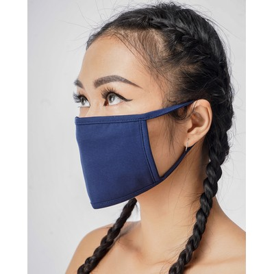 Three Layer Cloth Masks - Reusable Face Mask Fitted Design - IN STOCK